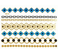 1Pc Long Bracelet Waterproof Tattoo Sticker 19.5x14.5CM