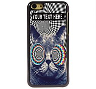 Personalized Case Cat Design Metal Case for iPhone 5C