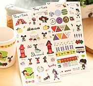 Little Girl And Dog Pattern Sticker Set(3 PCS)