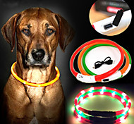 Perros Collar Luces LED / Recargable Rojo / Verde / Azul / Amarillo Nilón
