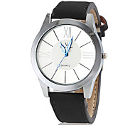 Unisex Simple Design PU Leather Band Quartz Wrist Watch
