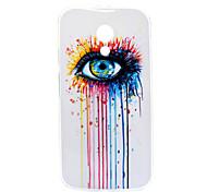 Colorful Tears Pattern TPU Soft Case for Motorola MOTO G2