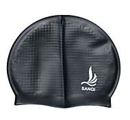 Sanqi Unisex Fashional Classic Comfotable Waterproof Ear Protection Swimming Cap