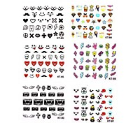 1PCS Animation Design Nail Art Stickers KT Series NO.83-91(Assorted Pattern)