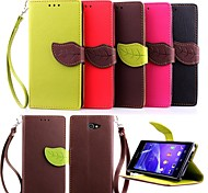 KARZEA™ Leaf Snap PU Full Body Case  for Sony Xperia M2 S50h (Assorted Colors)