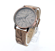 Lureme® Men's Vintage Copper Digital Wood Watchband Quartz Wrist Watch(Assorted Colors) Cool Watch Unique Watch