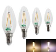 Zweihnder Lâmpada Vela Decorativa E14 2 W 180 LM 3000-3500 / 6000-6500 K Branco Quente/Branco Frio 2 LED Integrado 4 pçs AC 220-240 V CA