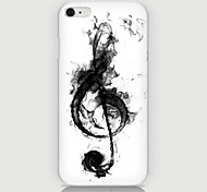 Musical Notes Pattern Back Case for iPhone 6