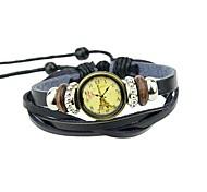 New Coming Multilayer Pu Leather Women Wrist Watch Bracelet