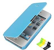 Design Especial - iPhone 5/iPhone 5S - Cases Totais (Vermelho/Preto/Branco/Azul/Rosa , Pele PU/Plástico)