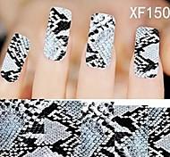 1X10PCS Full-cover Nail Art Stickers Leopard Print Series XF1508