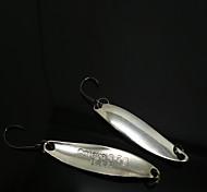 B.J.F® Metal Spoons 3.5g/6pcs/39mm Silver Fishing Lures