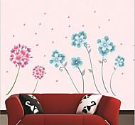Romantic Flower PVC Wall Sticker