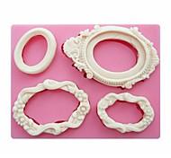 зеркальные рамы формы помадная силиконовые формы мыла свечи формы сахара ремесло украшения торта инструменты см-249