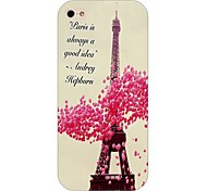 Eiffel Tower Pattern Back Case for iPhone5/5S