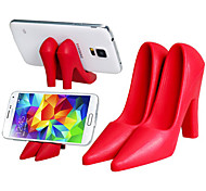 High-Heel Shoes Design Silicone Mobile Phone Tablet PC Holder(Assorted Colors)