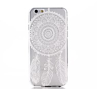 White Dream Catcher Pattern Ultra Thin TPU Soft Back Cover Case for iPhone 6