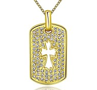 Gold Plated Cross Pendant Fashion Necklace