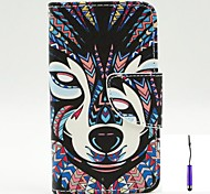 Wolves Pattern PU Leather Case Cover with A Touch Pen ,Stand and Card Holder for Nokia Lumia 530