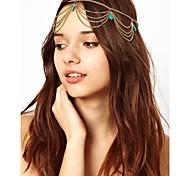 Bohemian Women Metal Head Chain Jewelry Forehead Dance Headband
