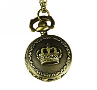 Men's Imperial Crown  Analog Quartz Pocket Watch