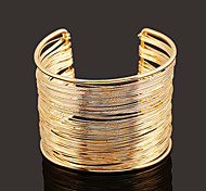 European  Style Iron  Wire Simple Cuff Bracelet (diameter:5.5cm)