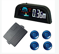 Car Parking Sensor with four Sensors,LCD display,English Human Voice Report,Different Sensor Color for option