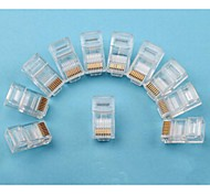 RJ45 Network Crimp Plugs 8P8C (100-pcs retail box set)