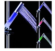 Batter Free Heat Sensor Color Changing LED Chrome Finish Hand Shower