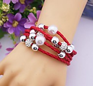 Fashion Multilayer   PU Handmade Bracelet