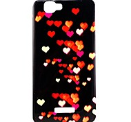 Heart to heart  Pattern TPU Soft Back Cover for Wiko RAINBOW