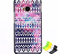 Stripe Pattern PC Hard Back Cover Case and Stand for HTC One(M7)