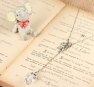 Fashion Gift Bough Silver Alloy Pendant Necklace(1 Pc)