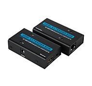HDMI sobre cable LAN Ethernet RJ45 de hasta 200 pies kit 1080p / 3d 60m con cables IR