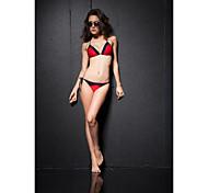 Black&Red Triangle Top Criss-cross String  Bikini