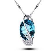Women's Crystal Pendant Necklace Water Drop Handmade Pendant Necklace