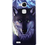Fashion Cartoon Painted Wolf PC Back Cover for Huawei Mate7