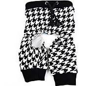 Pantalone - di Cotone - Bianco/Marrone