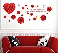 The New Red Roses Wall Stickers