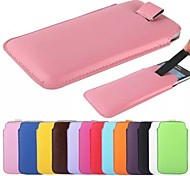 Slim Soft PU Leather Sleeve Pouch Case Cover Bag with Pull Tab for Samsung Galaxy S6 (Assorted Color)