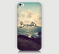 iPhone 4/4S/iPhone 4 - Cover-Rückseite - Grafisches Design/Spezielles Design/Neuartig/Stadtansicht Motiv ( Mehrfarbig , Kunststoff )