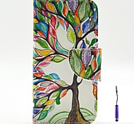 The Tree of Life Pattern PU Leather Case Cover with A Touch Pen ,Stand and Card Holder for Motorola Moto G