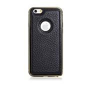 iPhone 6 - Rückseiten Cover - Volltonfarbe ( Rot/Schwarz/Weiß/Braun , Echtleder/Metall )