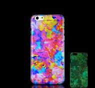 Colorful Pattern Glow in the Dark Hard Case for iPhone 6 Plus