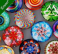 20pcs/lot 25mm Time Gem Glass Cabochon DIY Transparent Flat Round Gem Patch Crystal Sticker Jewelry Accessories