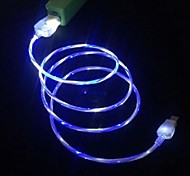 LED Cable LED Light Micro USB V8 Data Cable Charger Cable For Samsung S3 S4 HTC NOKIA MP3, MP4 (1M 3FT)