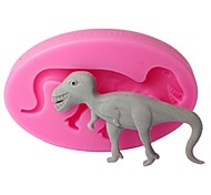 FOUR-C Fondant Molds Dinosaur Silicone Mould for Cupcake Color Pink