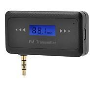 """gama completa de 0,7 """"lcd transmissor fm e carregador de carro para o smartphone / mp3 / mp4 w / jack de 3,5 mm"""