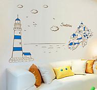 Mediterranean Style Scenery PVC Wall Sticker