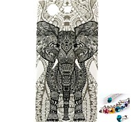 Elephant Pattern TPU Back Cover Case and Dust Plug for Sony Xperia Z3 Mini